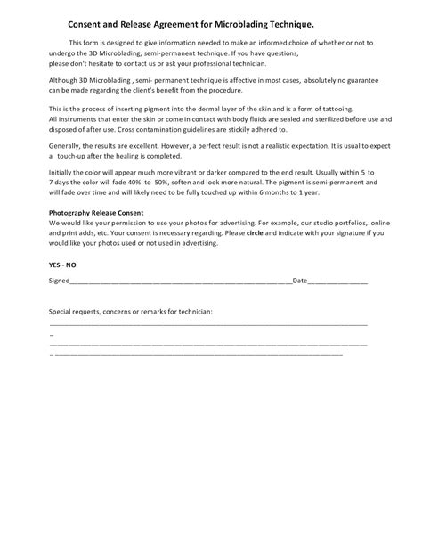 consent form for microblading microblading consent form seatle davidjoel co