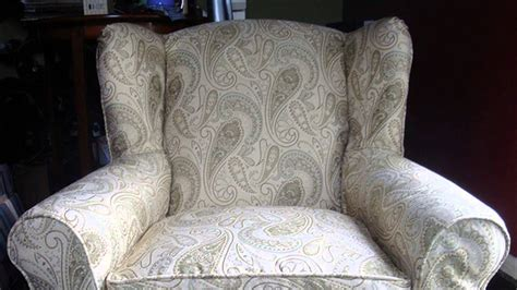 how to make a slipcover for a wing backed chair