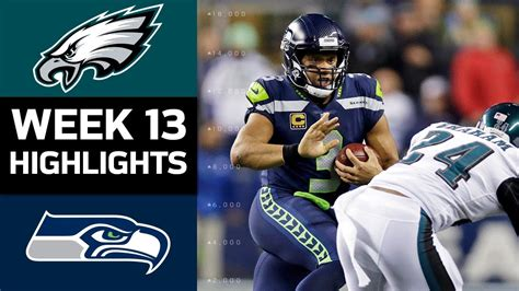 eagles  seahawks nfl week  game highlights youtube