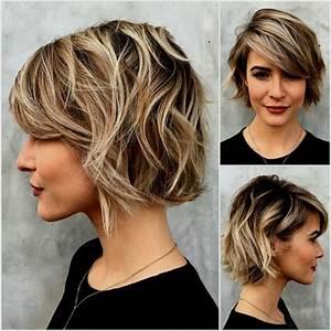 Coupe Courte Tendance 2019 : l gante de permanente cheveux mi long grosses boucles longs tendance coiffure ~ Dallasstarsshop.com Idées de Décoration