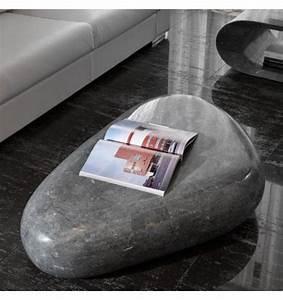 Table Basse Forme Galet : table basse galet pierre grise tables design ~ Teatrodelosmanantiales.com Idées de Décoration