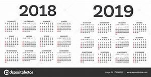 Kalender 18 19 : vector calendario 2018 y 2019 calendario 2018 2019 ~ Jslefanu.com Haus und Dekorationen