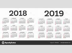 Kalender20182019 Isolated on White Background
