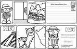 Peru Coloring Children sketch template