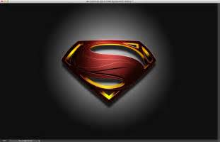 Superman Man of Steel Symbol in Black and White