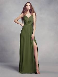 the newest color from vera wang an olive bridesmaid dress With olive green wedding dress