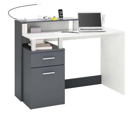 bureau leclerc meuble bureau multimedia 1 porte 1 tiroir oracle blanc graphite