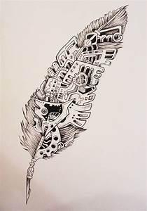 Dessin De Plume Facile : tatouage mandala plume femme ~ Melissatoandfro.com Idées de Décoration