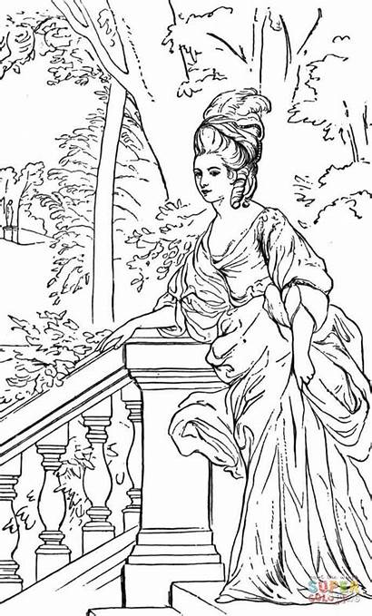 Coloring Printable Adult Duchess Duquesa Dibujo Colorear
