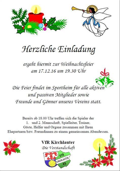 Einladung Weihnachtsfeier Verein.Einladung Vorlage Word Weihnachtsfeier Einladung Zum