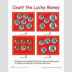 Counting Money Chinese New Year  Worksheet Educationcom