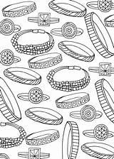 Coloring Bracelet Bracelets Rings все раскраски из категории sketch template