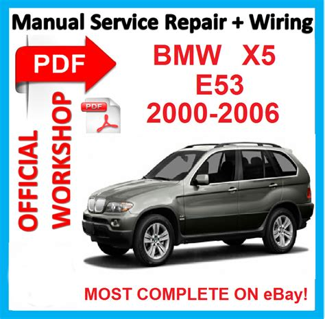 car maintenance manuals 2000 bmw x5 spare parts official workshop manual service repair for bmw x5 e53 2000 2006 ebay