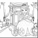 Sophia Coloring Pages Princess Drawing Sofia Disney Getdrawings sketch template