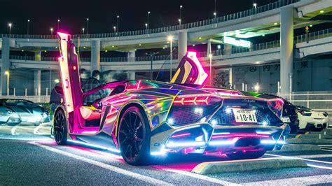 Neon Lights Lamborghini, Hd Cars, 4k Wallpapers, Images