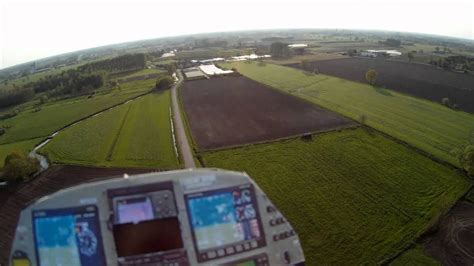rc airplane easystar fpv attacked  hit  bird real