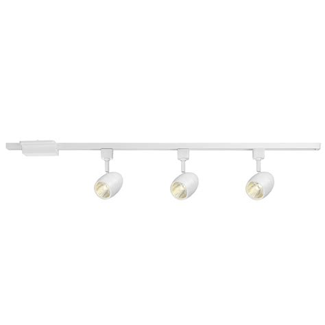 hton bay 39 37 in 3 light white dimmable led track