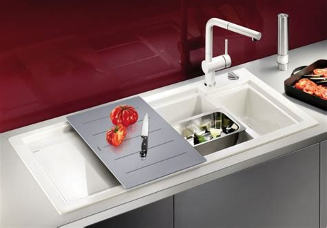 kitchen sink with sliding cutting board 20 blanco sinks which will elegantly decorate your kitchen 9588