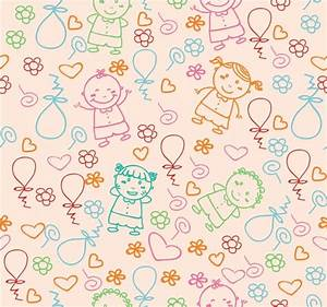 Kids pattern Free vector in Adobe Illustrator ai ( .AI ...