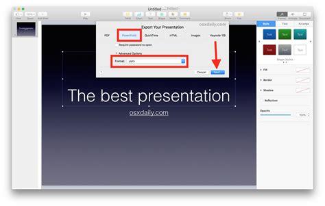 save  keynote key  powerpoint pptx