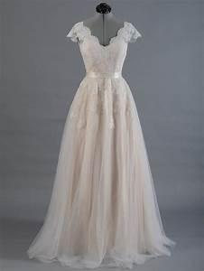 lace wedding dress wedding dress bridal gown cap sleeve With v back wedding dress