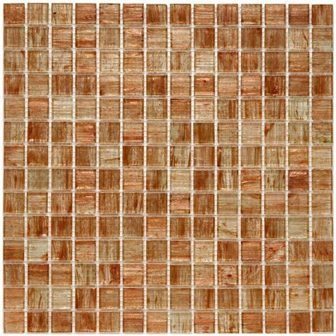Merola Tile Coppa Tan Gold 12 in. x 12 in. x 4 mm Glass