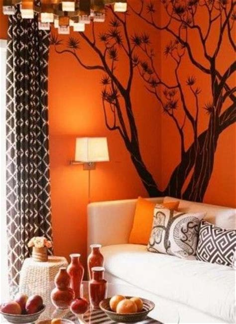 Living Room Decor With Orange Walls by 25 Best Ideas About Orange Living Rooms On