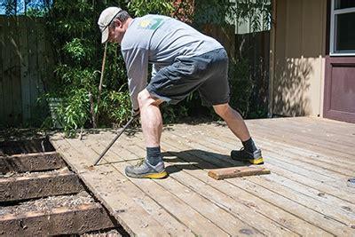installing  deck boards   solid existing frame