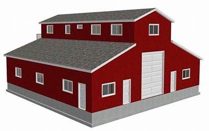 Plans Garage Quarters Living Pole Barns Rv