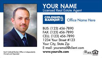 coldwell banker business card designs printing