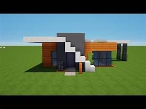 Haus Strichzeichnung Einfach : kleines modernes minecraft haus bauen tutorial haus 66 youtube ~ Watch28wear.com Haus und Dekorationen