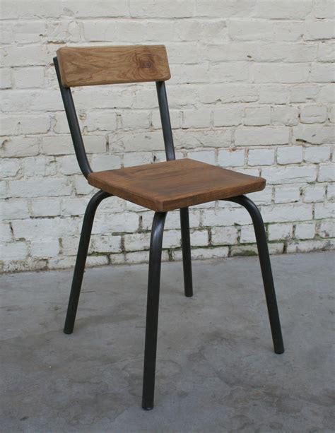 chaise métal et bois chaise cb 39 ch002 giani desmet meubles indus bois métal