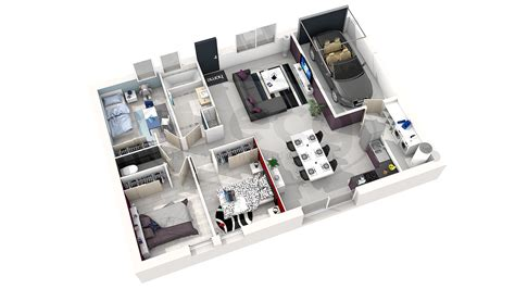 plan de maison 3 chambres plan de maison moderne en 3d maison moderne