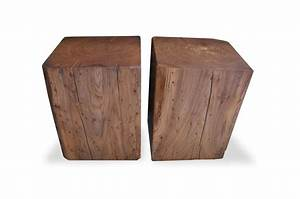 Reclaimed, Solid, Wood, Cube, Coffee, Tables, And, Side, Tables, By