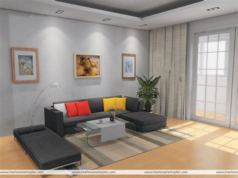 Simple Interior Design Ideas For Living Room In India by Interior Exterior Plan Simple And Uncluttered Living