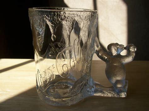 1997 Coca Cola Polar Bear Glass Stein.