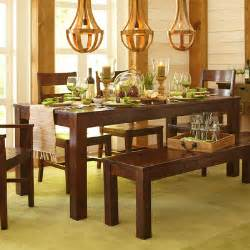 parsons 76 quot tobacco brown dining table pier 1 imports