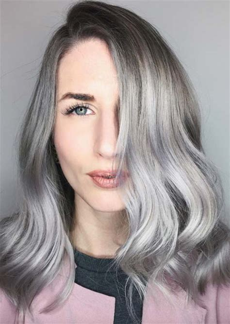 coloring hair gray silver ombre hair colors tumblr