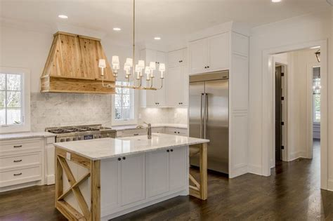 white kitchen with island the staging scoop reclaimed wood island range