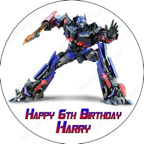 Prime Images Transformers Optimus Prime Personalised Edible Cake Image