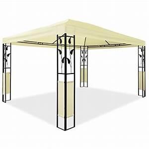 Metall Pavillon Mit Dach : metall pavillon mit ornamenten 3 x 4 m bl tter pavillon stahlpavillon gartenpavillon creme ~ Sanjose-hotels-ca.com Haus und Dekorationen