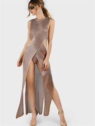 Rose Gold Metallic Dress