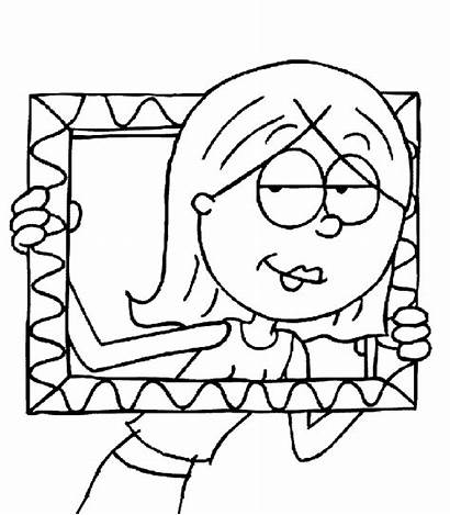 Mcguire Coloring Pages Cartoon Lizzie Lizzy Frame
