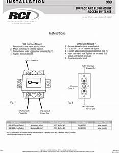 Rci 909 Rocker Switch Installation Instructions Is909 R0314 1