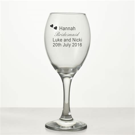 engraved wedding wine glass  ideal bridesmaid gift