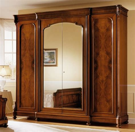 Wardrobe Cabinet With Mirror by Cabinet In Walnut Classic Luxury With Mirror Idfdesign