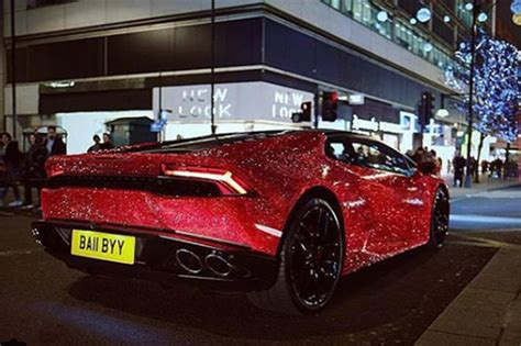 crystal encrusted lamborghini huracan spotted  london