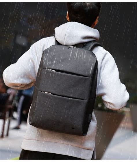 Modernist Series Water Resistant Backpack With Usb