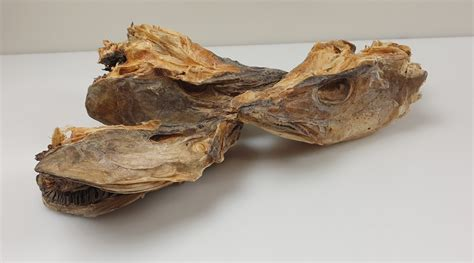 Codfish Heads Naturally Dried -Gadus morhua- 3 kg - NO