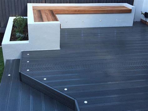 composite decking narrow profile charcoal deck kebur